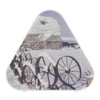 NA, USA, Washington, Uniontown, White barn and Bluetooth Speaker