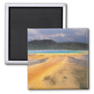 NA, USA, Wyoming, Yellowstone NP, Grand 2 Inch Square Magnet