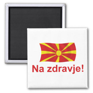 Na zdravje! (To your health!) 2 Inch Square Magnet
