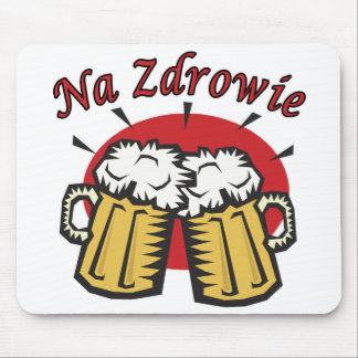 Na Zdrowie Toast With Beer Mugs Mouse Pad