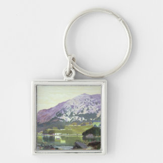Nab Scar Silver-Colored Square Keychain