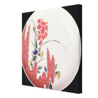 Nabeshima plate, c.1716-35 canvas print
