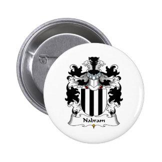 Nabram Family Crest Pinback Buttons