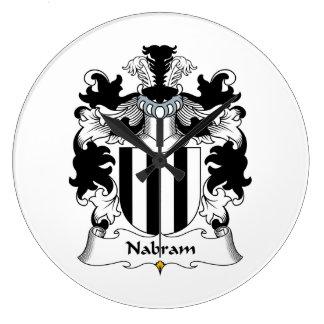Nabram Family Crest Clock
