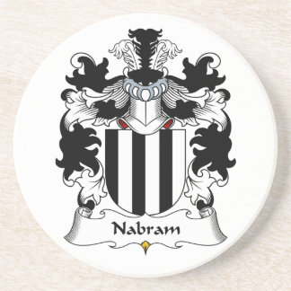 Nabram Family Crest Beverage Coaster