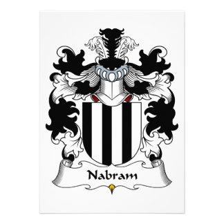 Nabram Family Crest Personalized Invitation