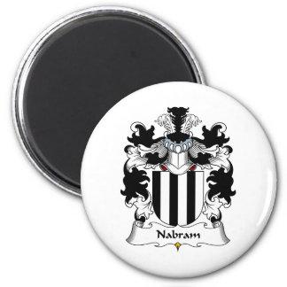 Nabram Family Crest Fridge Magnet