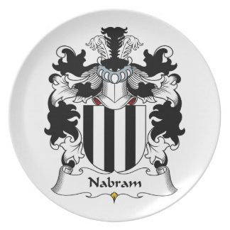 Nabram Family Crest Party Plate