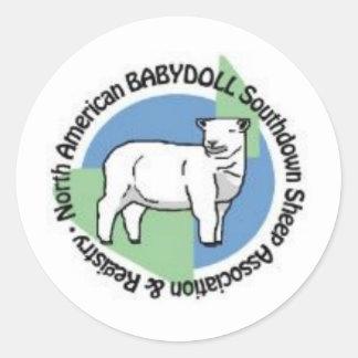 NABSSAR logo round stickers