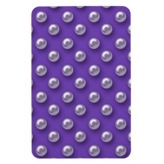 Nacarado magnífico en fondo púrpura iman flexible