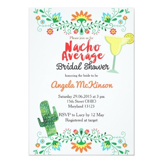 nacho average bridal shower invitation