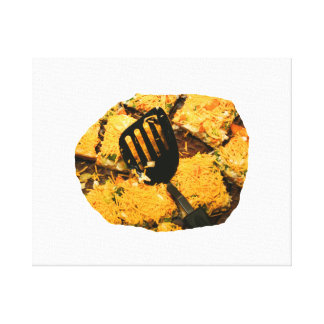 Nacho crackers and spatula pic canvas print