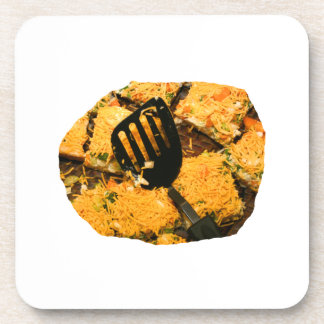 Nacho crackers and spatula pic drink coaster
