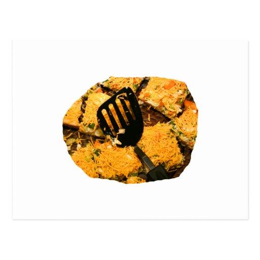 Nacho crackers and spatula pic postcard