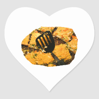 Nacho crackers and spatula pic heart stickers