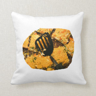 Nacho crackers and spatula pic throw pillow
