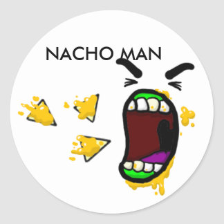 Nacho Man Stickers