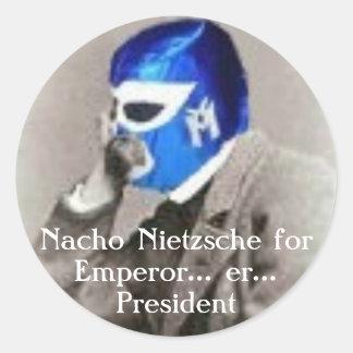 Nacho Nietzsche for president Stickers