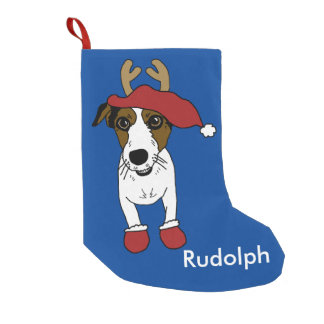 Nacho the Christmas Jack Russell Terrier Small Christmas Stocking