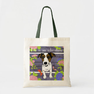 Nacho the Jack Russell Terrier Canvas Bags