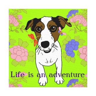 Nacho the Jack Russell Terrier Canvas Print