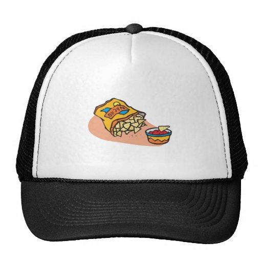 nachos and salsa dip trucker hat
