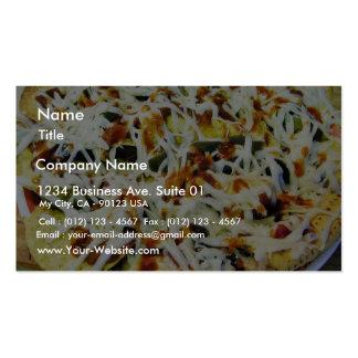 Nachos asados tarjetas personales