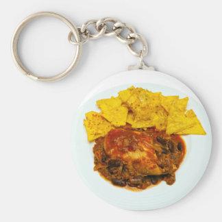 Nachos del queso de los chiles del pollo y de la llavero personalizado