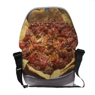 Nachos del queso del chile bolsa de mensajeria