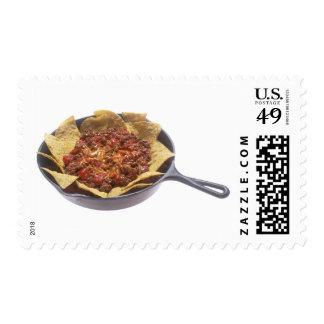 Nachos del queso del chile timbres postales