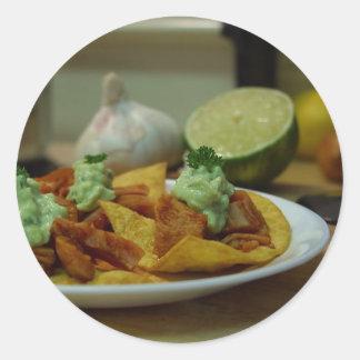 Nachos Limes Paltes Chips Garlic Kitchens Stickers