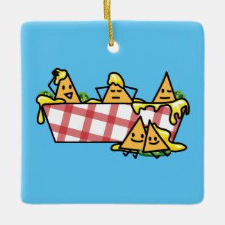Nachos Melted Cheese Jalapeno Nacho tortilla chips Ceramic Ornament