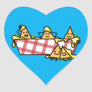 Nachos Melted Cheese Jalapeno Nacho tortilla chips Heart Sticker