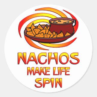 Nachos Spin Round Sticker