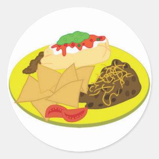 Nachos Round Sticker