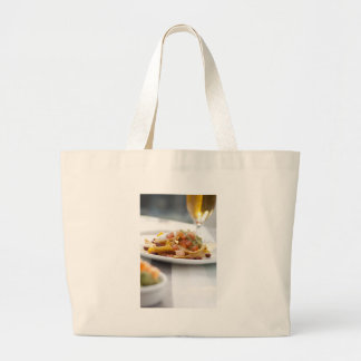 Nachos y bolso de la cerveza bolsas lienzo