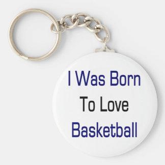 Nací amar baloncesto llavero redondo tipo pin