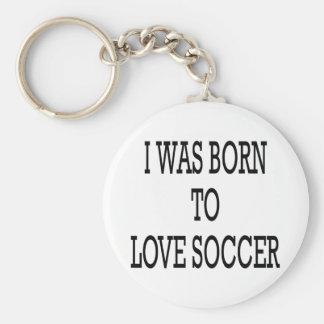 Nací amar fútbol llavero redondo tipo pin
