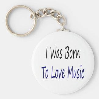 Nací amar música llavero redondo tipo pin