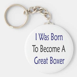 Nací hacer gran boxeador llavero redondo tipo pin