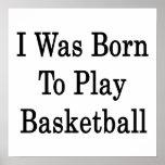 Nací jugar a baloncesto impresiones