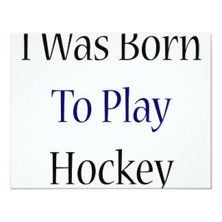 Nací jugar a hockey invitación