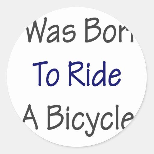 Nací montar una bicicleta pegatinas redondas