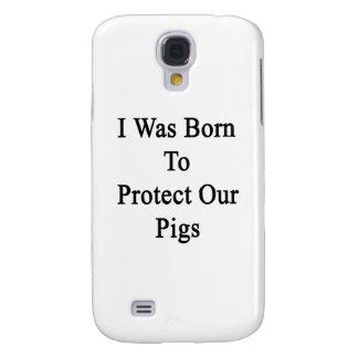 Nací proteger nuestros cerdos funda para galaxy s4
