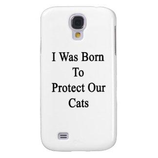 Nací proteger nuestros gatos funda para galaxy s4