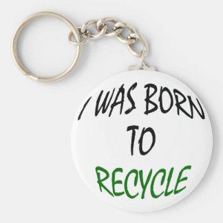 Nací reciclar llavero redondo tipo pin