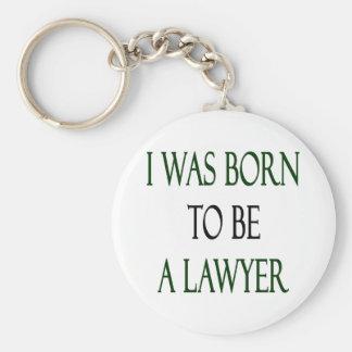 Nací ser abogado llavero redondo tipo pin