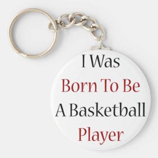 Nací ser jugador de básquet llavero redondo tipo pin