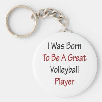 Nací ser un gran jugador de voleibol llavero redondo tipo pin