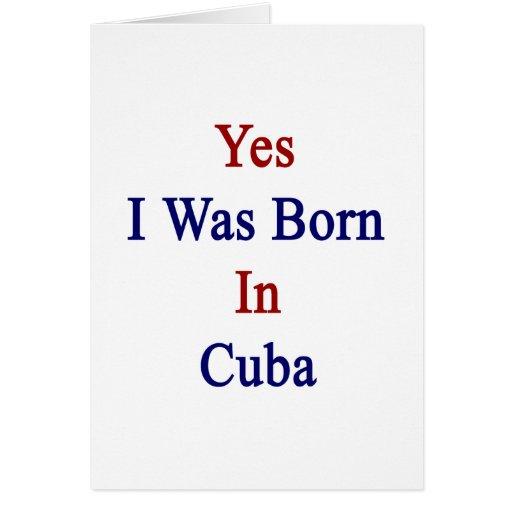 Nací sí en Cuba Tarjetón